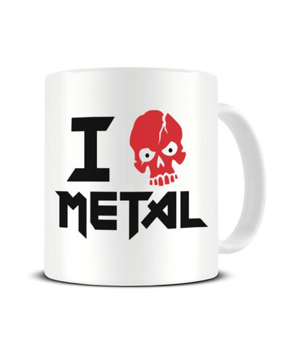 I Love (Skull) Metal  Funny Ceramic Mug