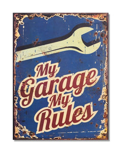 My Garage My Rules - Vintage Automotive Garage Sign