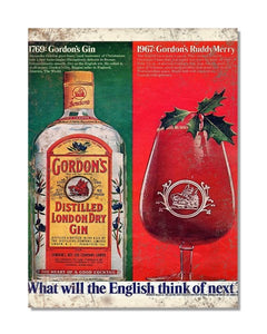 Gordon's Gin - Vintage Gin And Tonic Advertisement Metal Wall Sign