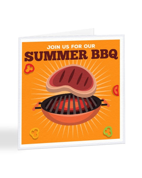 Join Us For Our Summer BBQ - Invite - Funny RSVP Greetings Card