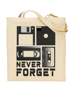 Never Forget 80's Forgotten Heroes Obsolete Media Canvas Shopper Tote Bag
