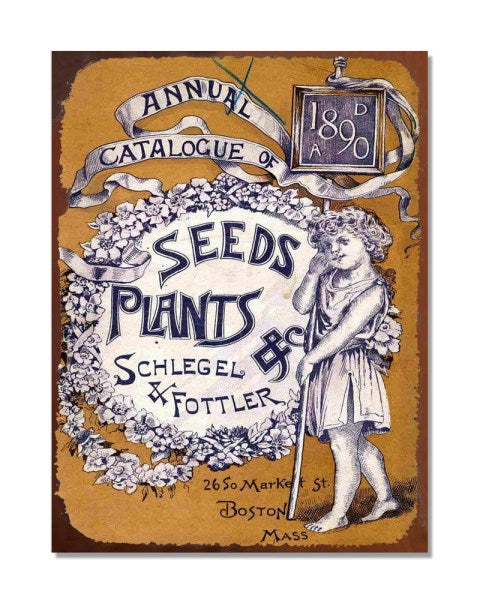 Annual Catalogue Of Seeds And Plants - Vintage Metal Wall Sign