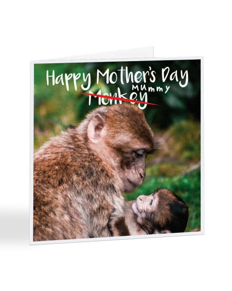 Happy Mother's Day Mummy Monkey Greetings Card