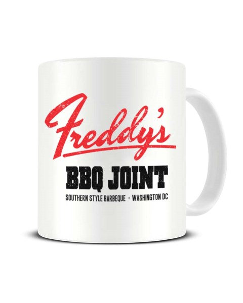 Freddy's BBQ Joint Washington DC - House Of Cards Inspired Funny Ceramic Mug