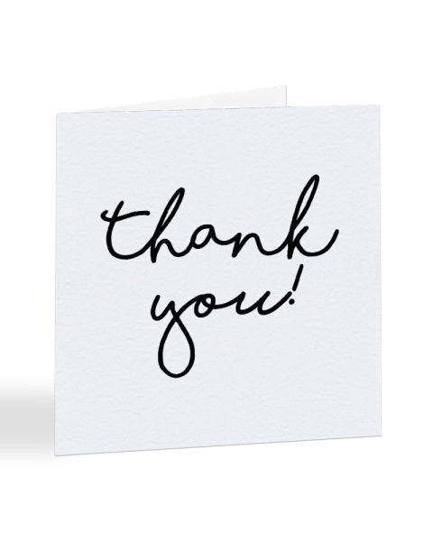Thank You - Simple Typography - Thank You Greetings Card