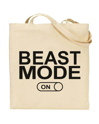 Beast Mode On Canvas Shopper Tote Bag