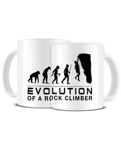 Evolution Of A Rock Climber - Rock Climbing Hobby Ceramic Mug