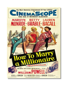 How To Marry A Millionaire - Marilyn Monroe - Vintage Movie Poster Metal Sign