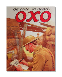 Be Sure To Send OXO - Vintage Advert Kitchen Wall Sign