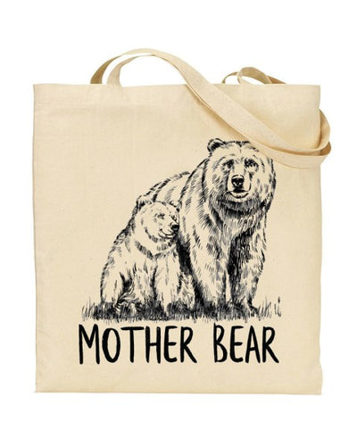 Mother Bear - Mothers Day Canvas Shopper Tote Bag