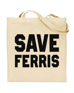 Save Ferris Inspired By Bueller's Day Off Canvas Shopper Tote Bag