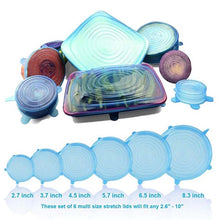 Load image into Gallery viewer, Reusable Silicone Stretch Lids 6 pcs