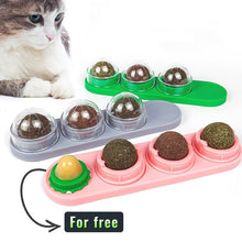 Load image into Gallery viewer, 1/2/3/4 Pcs Natural Cat Catnip Treat Balls Pet Catnip Toys Interactive Mice Mouse Kitten Toys Cats Playing Cleaning Teeth Toy