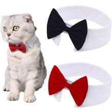 Load image into Gallery viewer, Pet Bow Ties Adjustable Dog Cat Neckties Gentleman British Style Tie For Cat Dog Wedding Party Collar Decor Pet Accessories D40