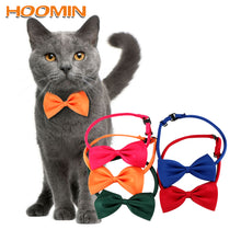 Load image into Gallery viewer, HOOMIN Necktie Clothes Puppy Pets Neck Tie Pet Cat Dog Collar Bow Tie Adjustable Neck Strap Cat Dog Grooming Accessories