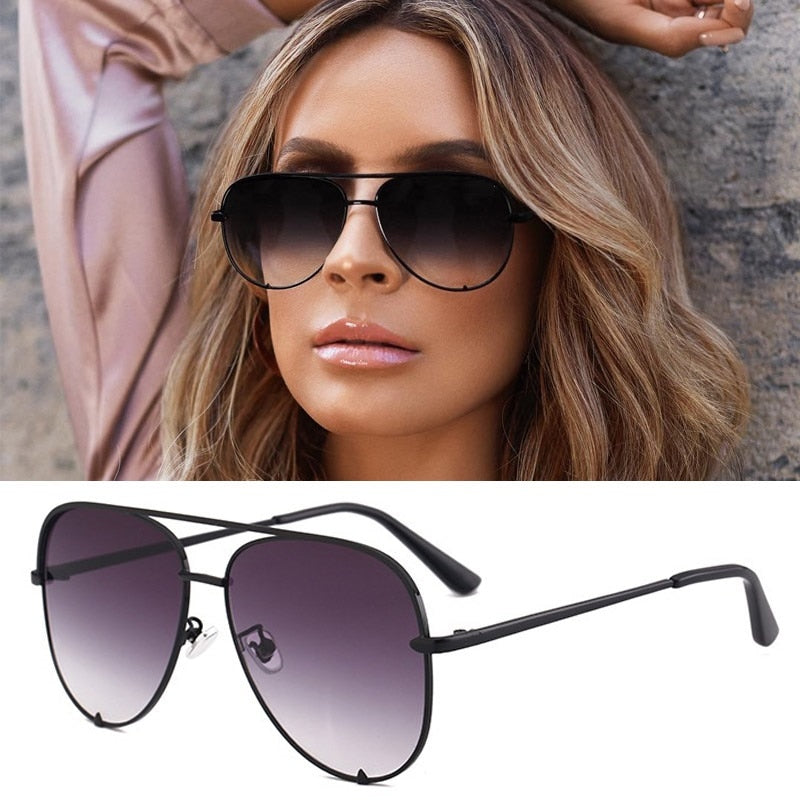 Ladies Large Round Mirror Sunglasses