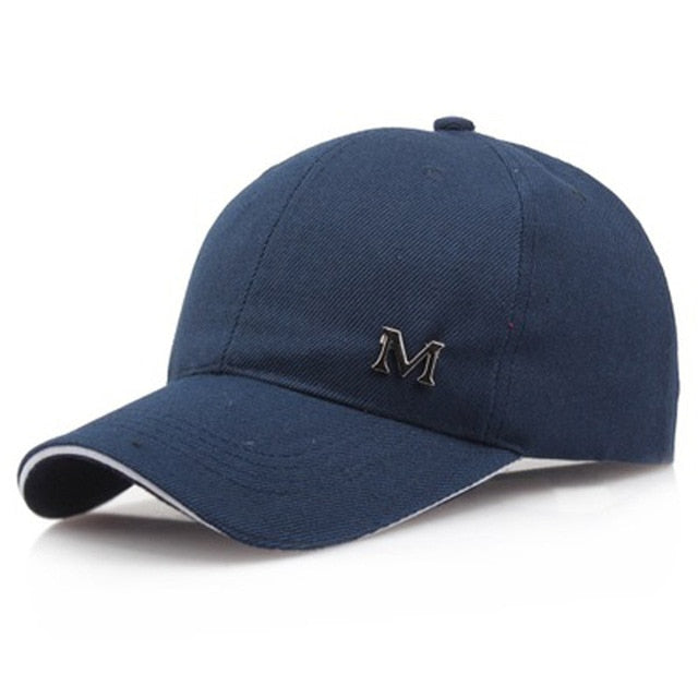 Unisex M Letter Cotton Baseball Cap