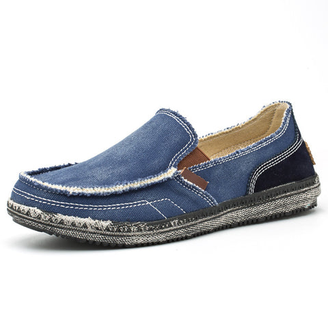 Mens Casual Loafer Canvas Slip On Shoes