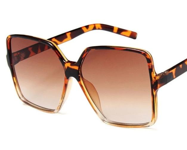 Womens Vintage Oversize Luxury Brand Square Sunglasses