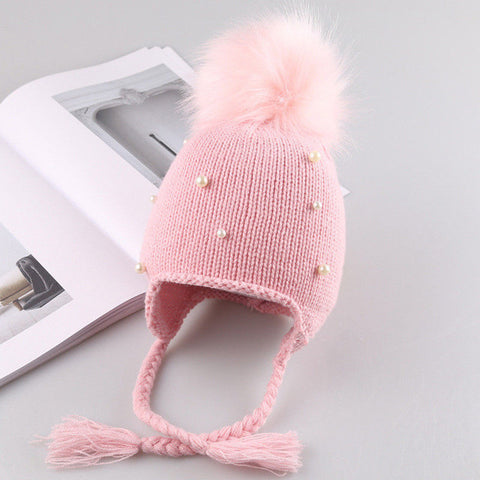 Cute Baby Girl Crochet Beanie Crochet Winter Warm Knit