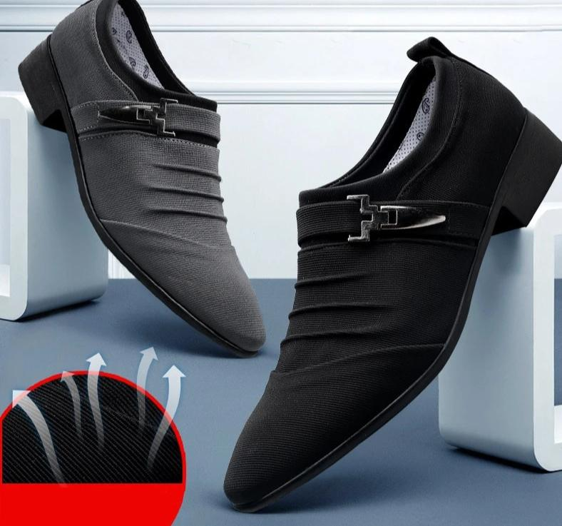 Mens Classic Pointed Toe Dress Shoe - Hypa Fashion