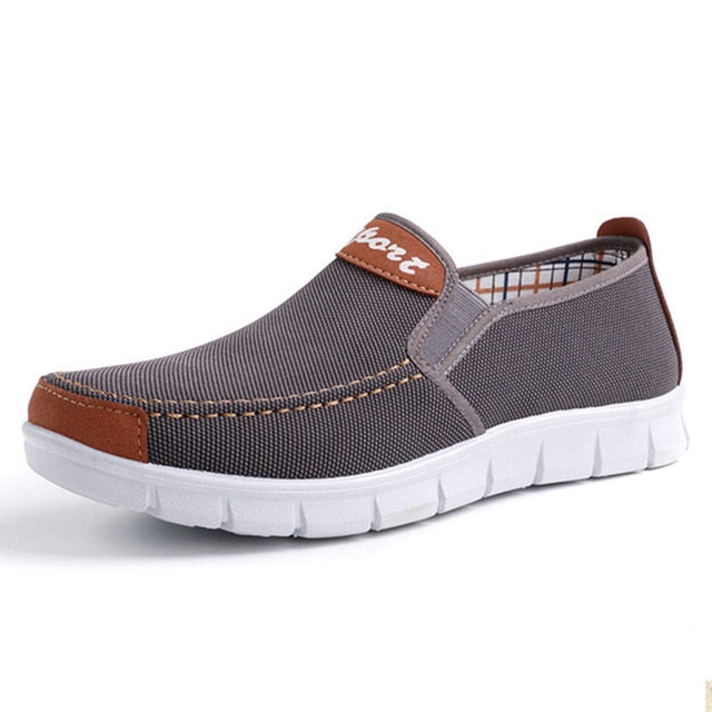 Mens Casual Canvas Loafer Shoes