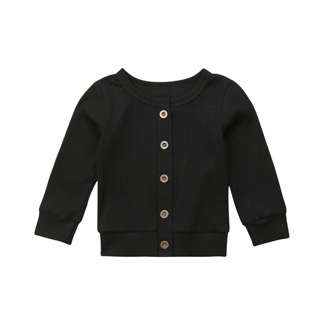 Baby Girl Kids Long Sleeve Knitted Cardigan Sweater