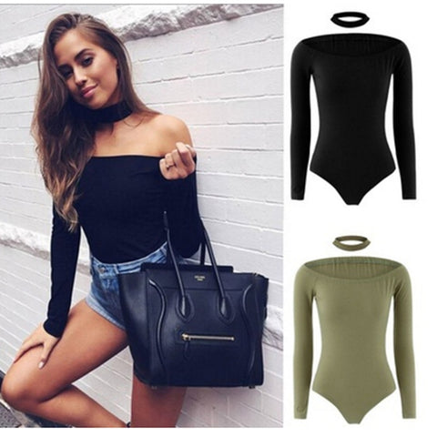 Women's Sexy Solid Bodysuits