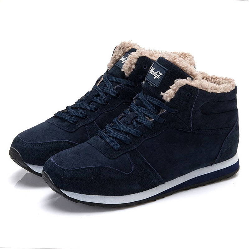 Mens Winter Suede Leather Sneaker Shoes