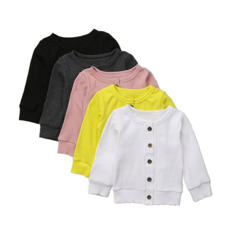 Fashion Newborn Baby Infant Toddler Girls Long Sleeves Knitted Cardigan Sweaters Lovely Cute Baby Clothing Buttons Tops 0-24M - Hypa Fashion