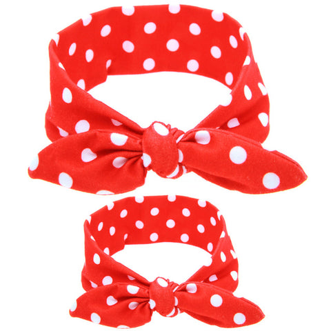 2Pcs Mother Baby Womens Kids Matching Headbands
