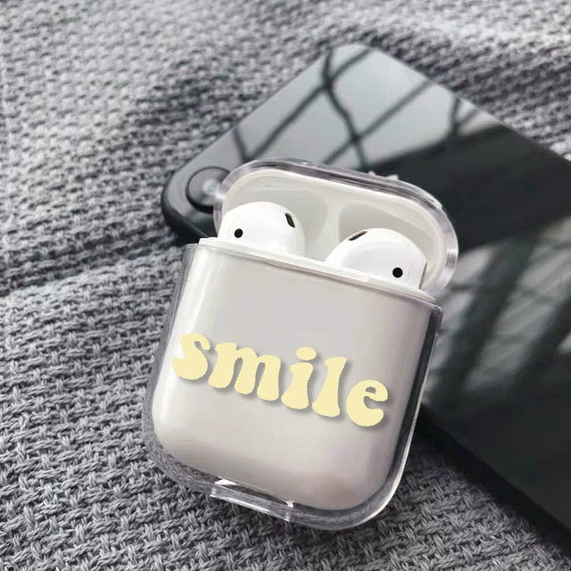 AirPods Suitable for Apple iPhones Charging Box Hard Transparent Protective Cover Accessories