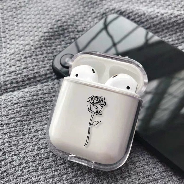 Apple iPhone Charging Box For AirPods Hard Transparent Protective Cover Accessories