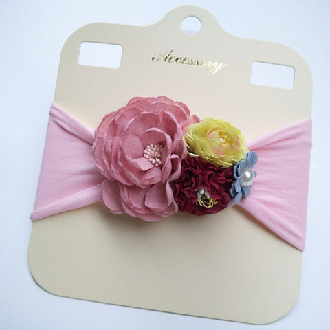 Baby Girl Kids Floral Nylon Headband