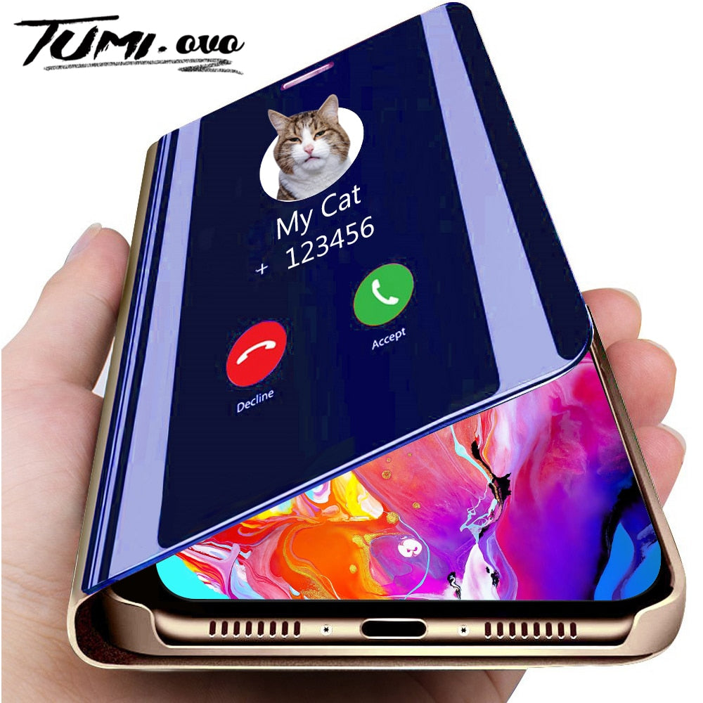 Luxury Smart Mirror Flip Phone Case For iPhone 11 Pro XR XS Max X Cover for iPhone 6 6S 7 8 Plus Cases