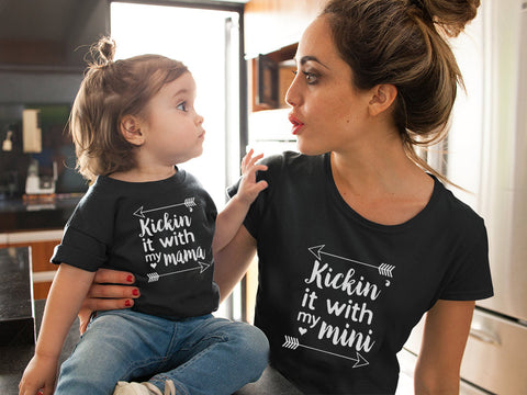 Mummy & Me Womens & Kids Matching Summer Short Sleeve T-Shirt