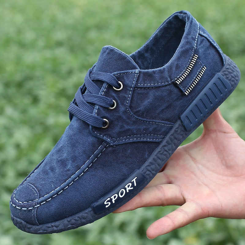 Mens Canvas Breathable Shoes