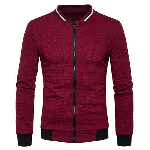 Mens Solid Color Classic Bomber Jackets