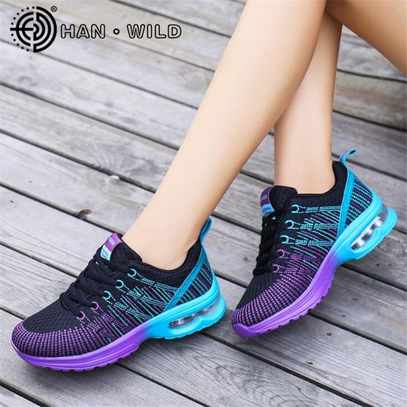 Womens Air Cushion Breathable Sneakers