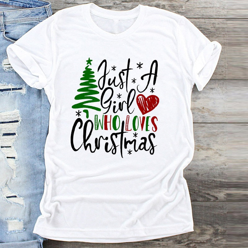 Womens Cute Christmas T-Shirt