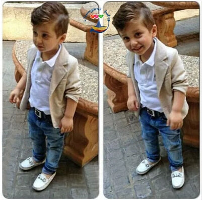 Kid Boys 3 Pcs Casual Jacket + Shirt + Pants