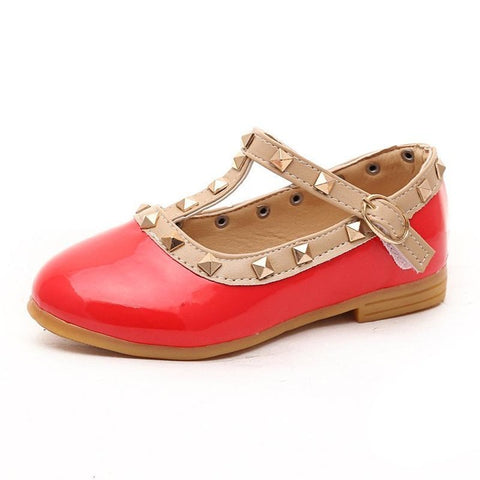 Baby Girl Kids Leather Flat Dance Shoes