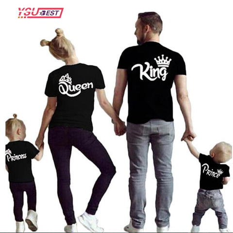 Matching Family Father Mens Mother Womens & Kids Cotton T-Shirt