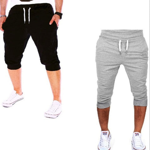 Mens Casual Cotton Summer Jogger Shorts
