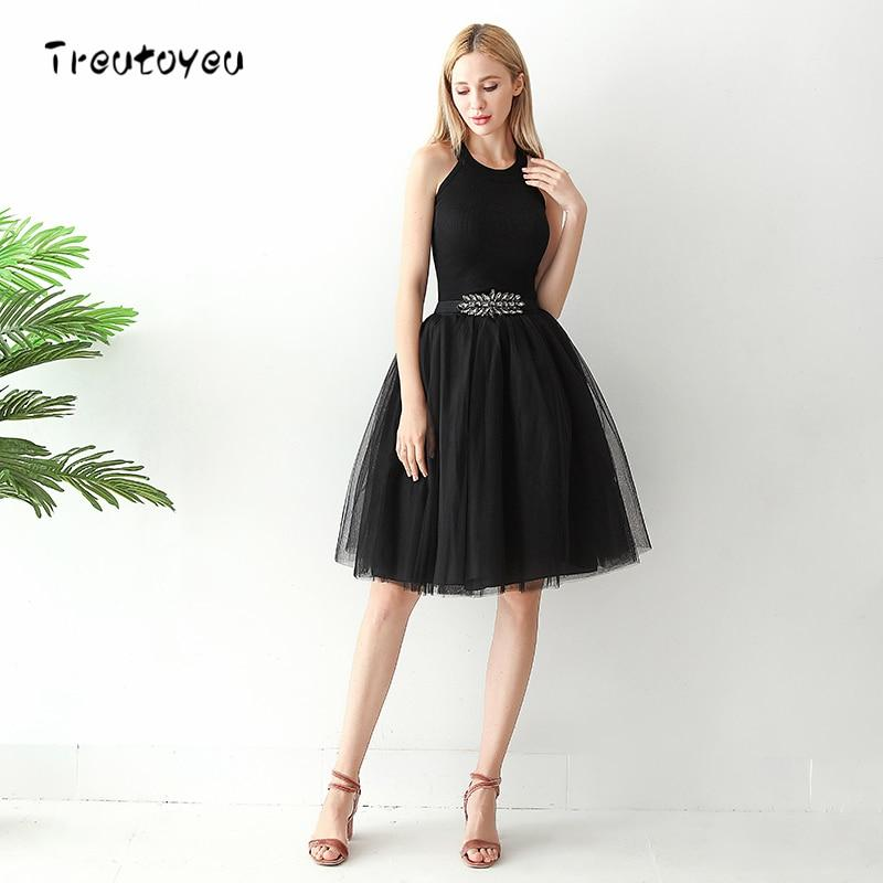 Ladies High Waist 6 Layer Midi Tulle Dress - Hypa Fashion