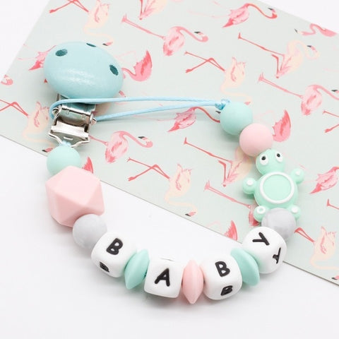 Baby Kids Mini Turtle Silicone Pacifier Clip