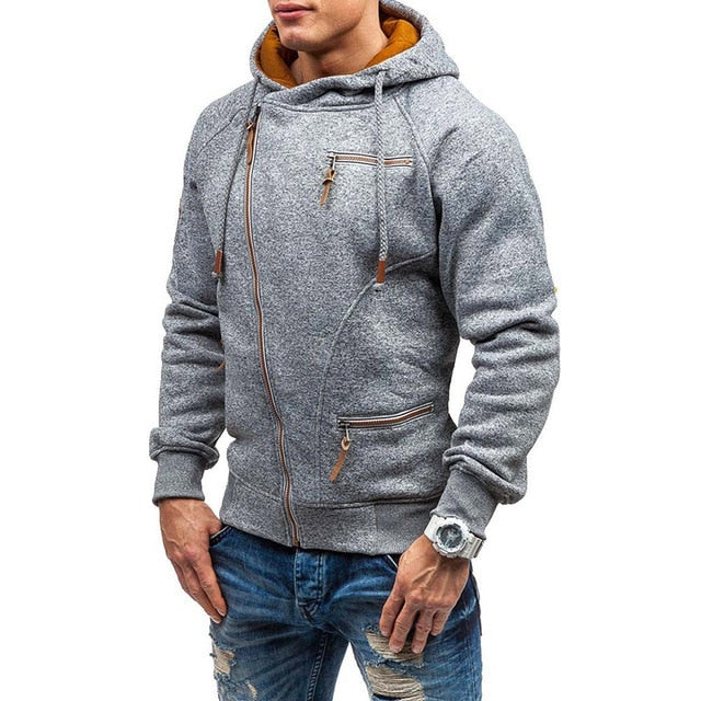 Mens Casual Slim Fit Knitted Zipper Sweater