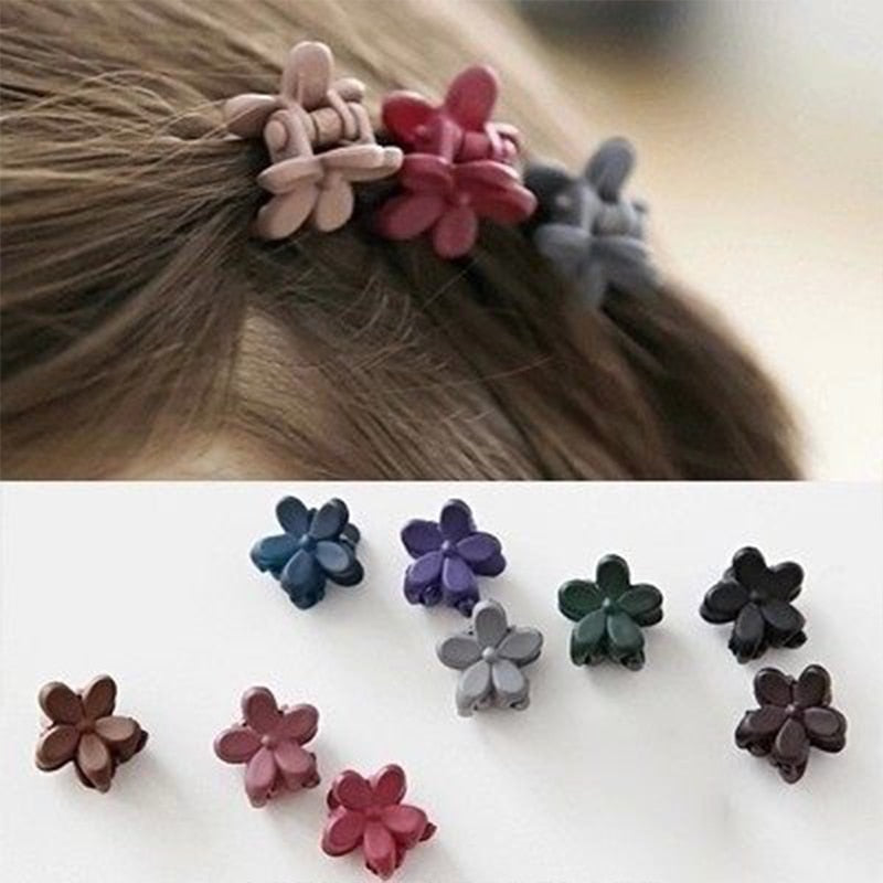 5/10pcs Girls Cute Small Plum Blossom Hair Claws Accessories