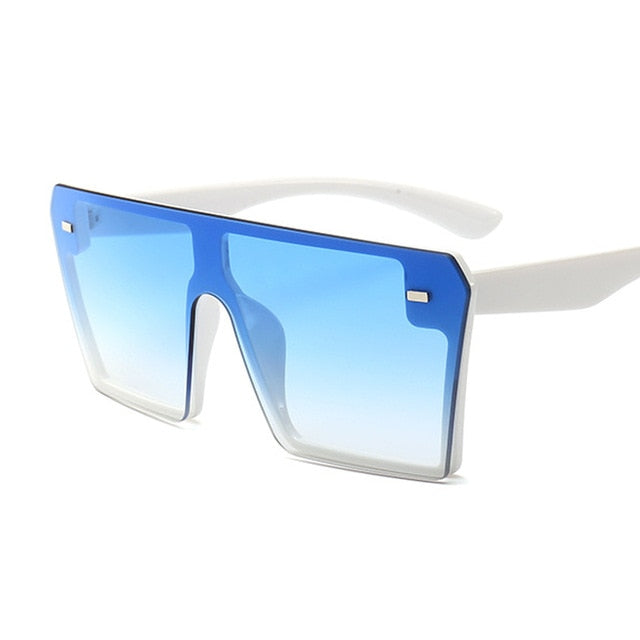 Womens Oversized Square Fashion Flat Top Sunglasses