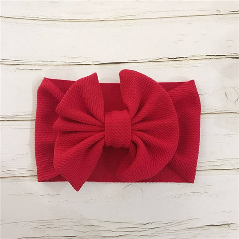 Big Bowknot Baby Headbands Knotted Infant Headwraps Toddler Girls Turban Baby Bows